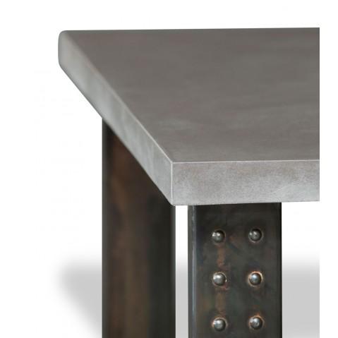 Table en béton anthracite L.200 pied Atelier