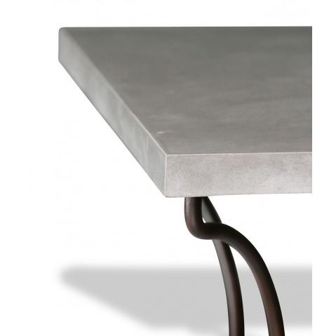 Table en béton anthracite L.200 pied Directoire