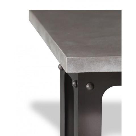 Table en béton anthracite L.200 pied Loft