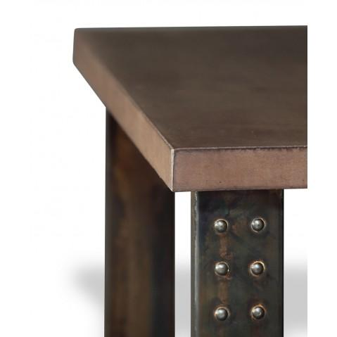 Table en béton chocolat L.200 pied Atelier