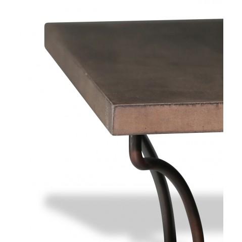 Table en béton chocolat L.200 pied Directoire