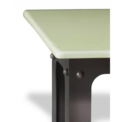 Table en pierre de lave émaillée L.200 Pied Loft céladon