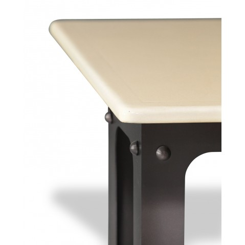 Table en pierre de lave émaillée L.200 Pied Loft pierre