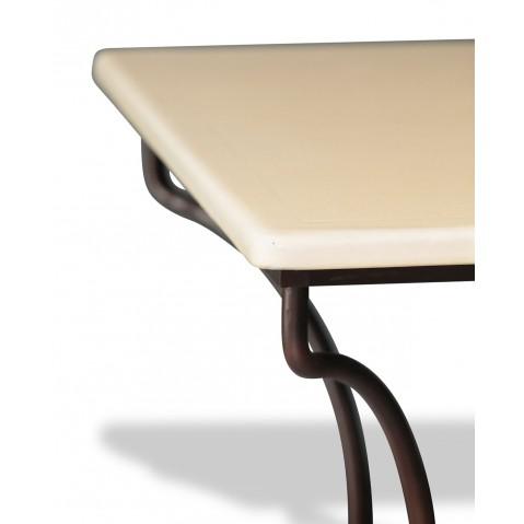 Table en pierre de lave émaillée pierre L.180 Pied Directoire