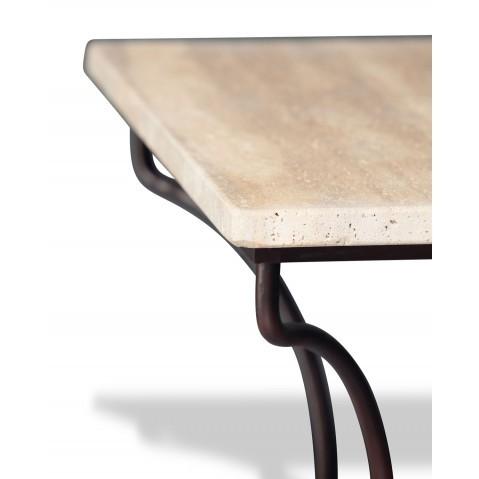 Table en Pierre Pied Directoire L.200, 2 coloris