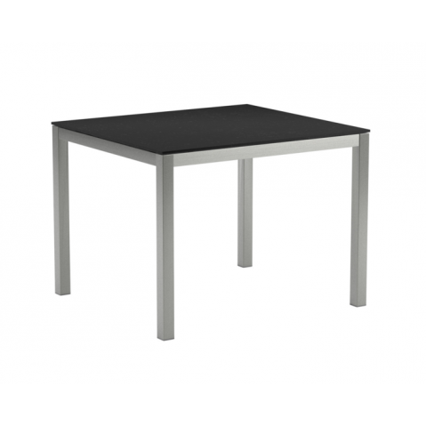Table en verre TABOELA 100x90 de Royal Botania, noir