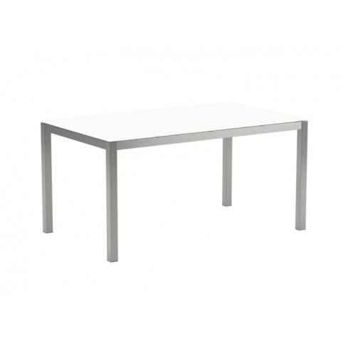 Table en verre TABOELA 150x90 de Royal Botania, blanc