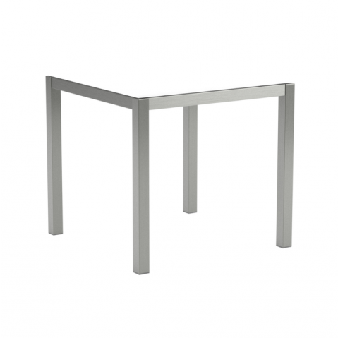 Table en verre TABOELA 80x80 de Royal Botania, blanc
