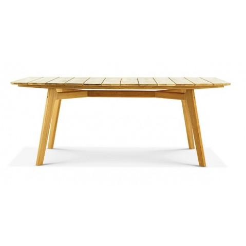 Table extérieur KNIT de Ethimo, Teck