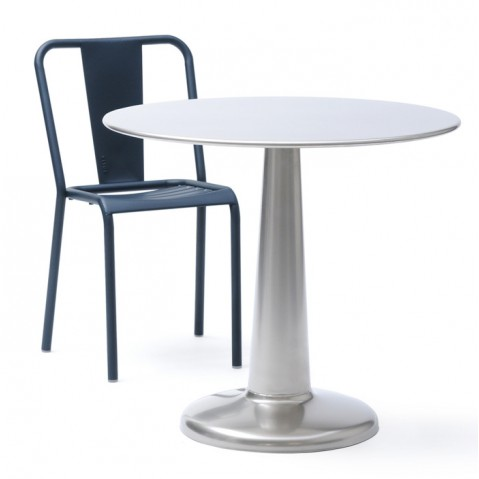 Table G de Tolix Brut Verni D.80 cm