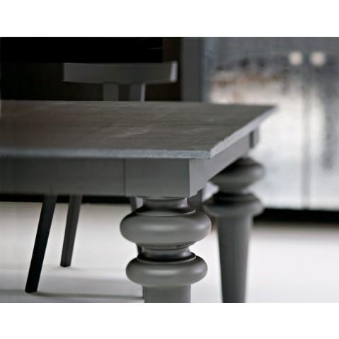 Gervasoni : table Gray plateau en ardoise de 180 cm de long et pieds ...