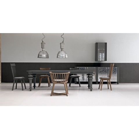 table gray de gervasoni plateau ardoise 5 tailles. Black Bedroom Furniture Sets. Home Design Ideas