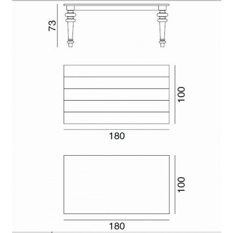 Table GRAY de Gervasoni plateau ardoise et pieds noyer 180 cm 34 LG