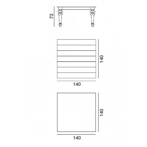 Table GRAY de Gervasoni plateau marbre et pieds chêne naturel 140 cm 32 LG
