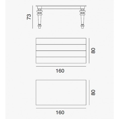 Table GRAY de Gervasoni plateau marbre et pieds chêne naturel 160 cm 35 LG