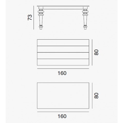 Table GRAY de Gervasoni plateau noyer et pieds chêne blanc 160 cm 35 LG