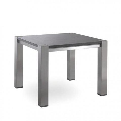 Table haute carrée COMO de Manutti, Noir, 100x100x75