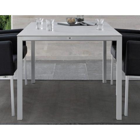 table haute carr e trento de manutti 2 coloris 3 tailles. Black Bedroom Furniture Sets. Home Design Ideas