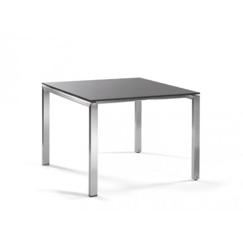 Table haute carrée TRENTO de Manutti, 2 coloris, 3 tailles
