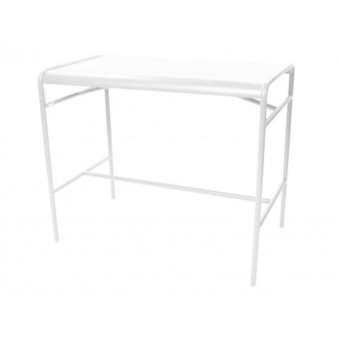 Table haute LUXEMBOURG de Fermob, Blanc coton