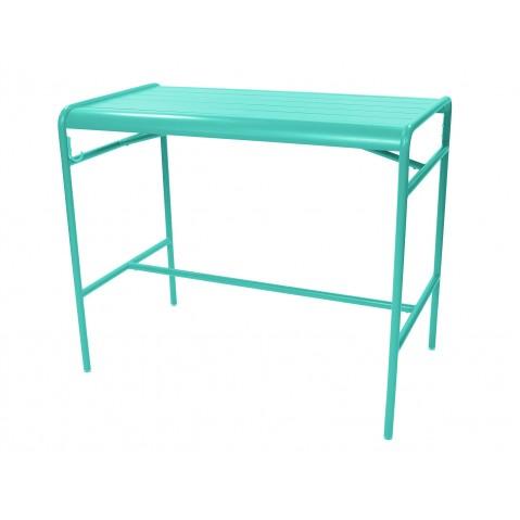 Table haute LUXEMBOURG de Fermob, Bleu lagune
