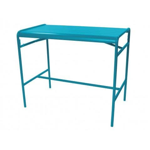 Table haute LUXEMBOURG de Fermob, Bleu turquoise