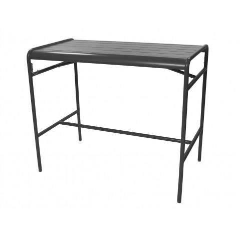 Table haute LUXEMBOURG de Fermob, Carbone