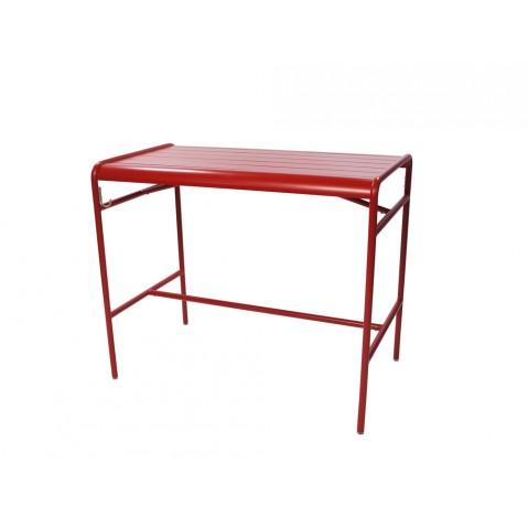 Table haute LUXEMBOURG de Fermob, Piment