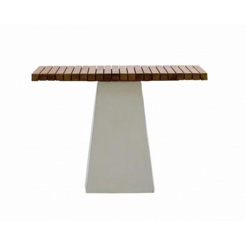 Table INOUT 35 de Gervasoni céramique blanche