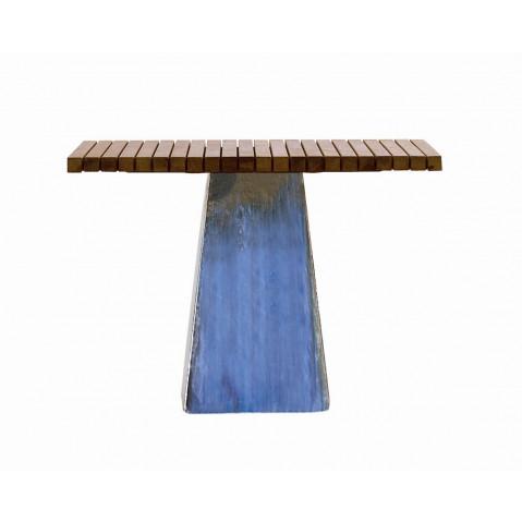 Table INOUT 35 de Gervasoni céramique bleue