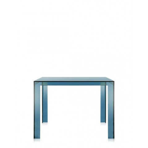 Table INVISIBLE de Kartell, Sarcelle