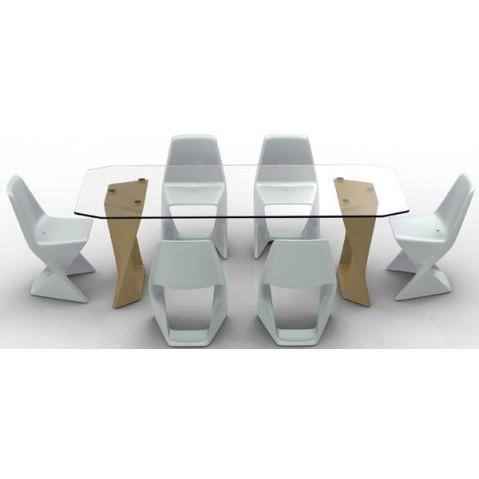 Table ISO Finition HPL 24 mm Qui est Paul Beige