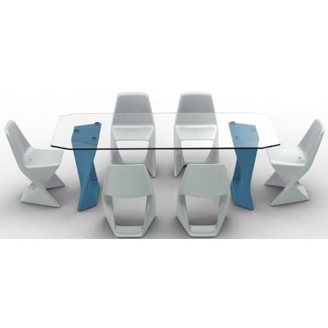 Table ISO Finition HPL 24 mm Qui est Paul Bleu