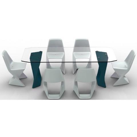 Table ISO Finition HPL 24 mm Qui est Paul Bleu Nuit