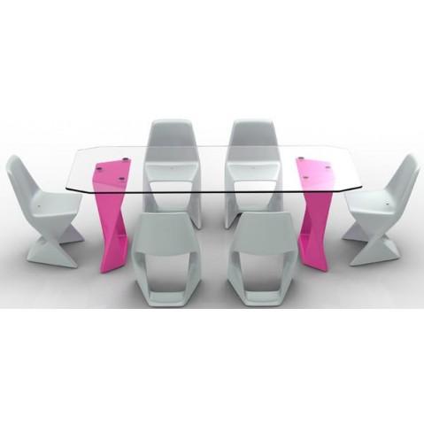 Table ISO  Finition HPL 24 mm Qui est Paul Fushia