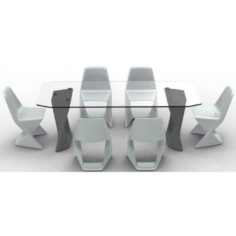 Table ISO  Finition HPL 24 mm Qui est Paul Gris Anthracite
