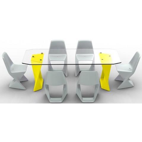 Table ISO Finition HPL 24 mm Qui est Paul Jaune