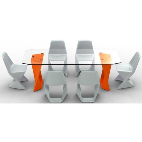 Table ISO  Finition HPL 24 mm Qui est Paul Orange