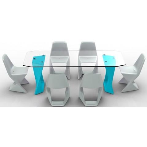 Table ISO Finition HPL 24 mm Qui est Paul Turquoise