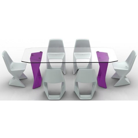 Table ISO Finition HPL 24 mm Qui est Paul Violet