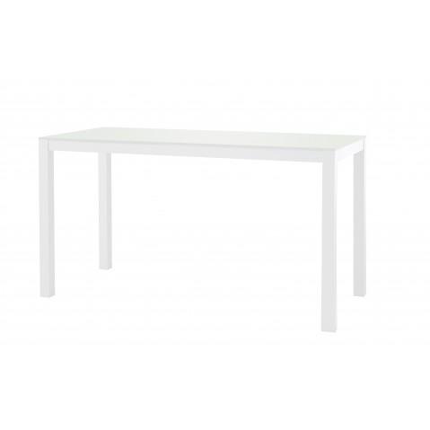 Table KWADRA avec dalle en verre de Sifas, blanc, 140 x 60