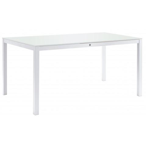 Table KWADRA avec dalle en verre de Sifas, blanc, 180 x 90