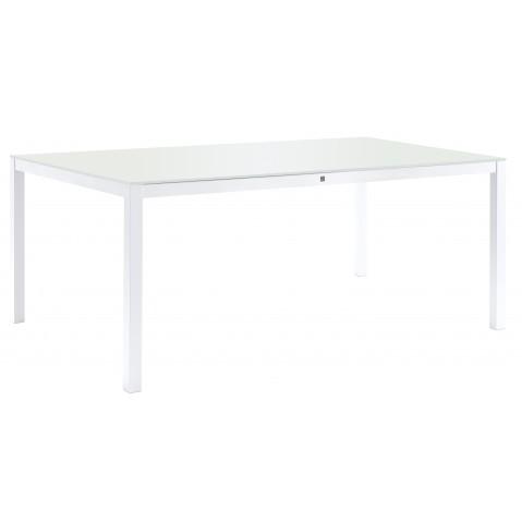 Table KWADRA avec dalle en verre de Sifas, blanc, 240 x 100