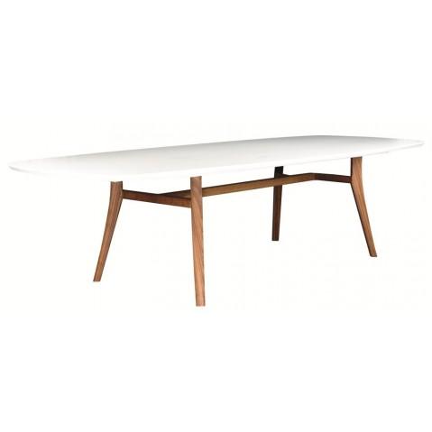 Table longue ZIDIZ de Royal Botania, Blanc Corian