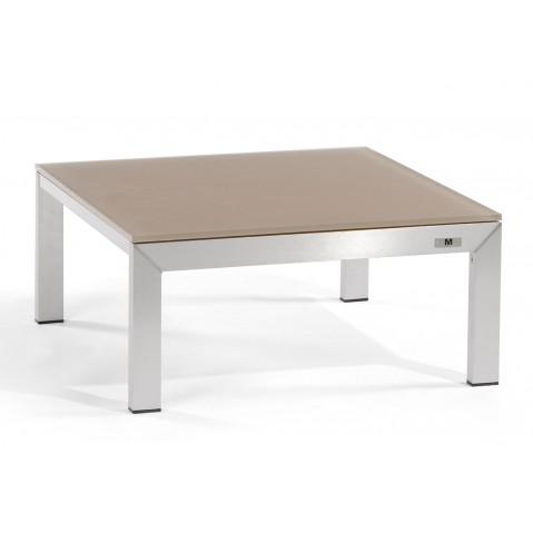 Table LOUNGE LINER de Manutti en verre taupe