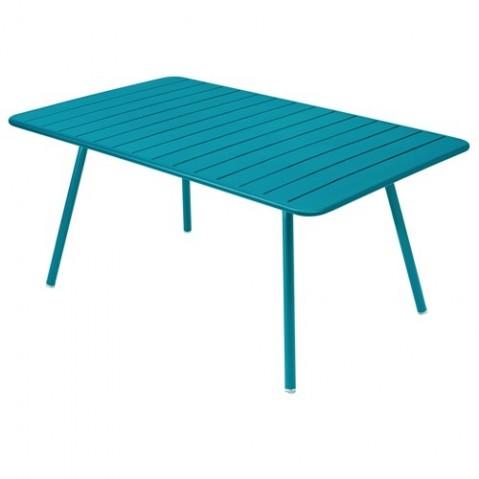 Table LUXEMBOURG de Fermob bleu turquoise