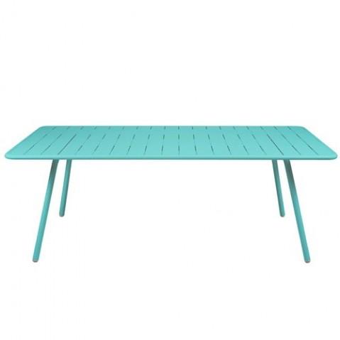 Table LUXEMBOURG pour 8 personnes de Fermob Bleu lagune