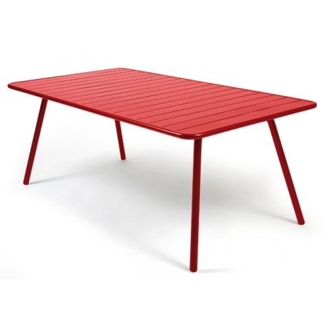 Table luxembourg pour 8 personnes de fermob coquelicot for Table pour 8 personnes