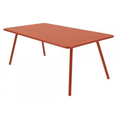 Table LUXEMBOURG pour 8 personnes de Fermob paprika