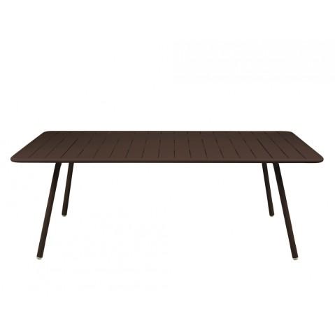 Table luxembourg pour 8 personnes de fermob rouille for Table pour 8 personnes